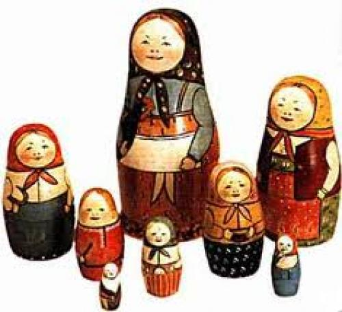 A matryoshka doll, also known as a Russian nested doll