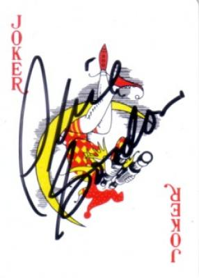 Phil Gordon (poker player) autographed Joker card