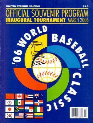 Sadaharu Oh autographed 2006 World Baseball Classic program