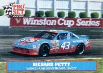 Richard Petty 1991 Pro Set Racing promo card MINT
