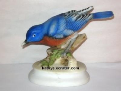 Lefton China KW395 Bluebird Head Down Figurine