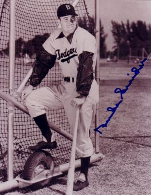 Duke Snider autographed Brooklyn Dodgers 8x10 black & white photo