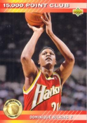 Dominique Wilkins Hawks 1992-93 Upper Deck 15000 Point Club insert card