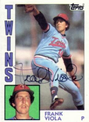 Frank Viola autographed Minnesota Twins 1984 Topps card