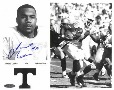 Jamal Lewis autographed Tennessee 8x10 photo (UDA)