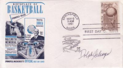 Dolph Schayes autographed Basketball Centennial First Day Cover