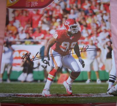 Kendrell Bell autographed Kansas City Chiefs calendar page