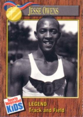 Jesse Owens 1990 Sports Illustrated for Kids card