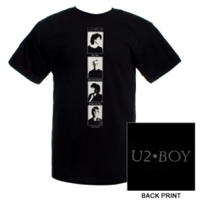 U2 Boy officially licensed black T-shirt