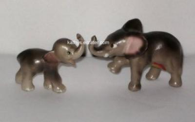 Hagen Renaker #17 #264 2 Lot Baby Elephants Animal Figurine