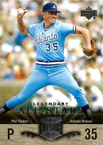 2005 UD All-Star Classics #95 ~ Phil Niekro * FREE SHIPPING *