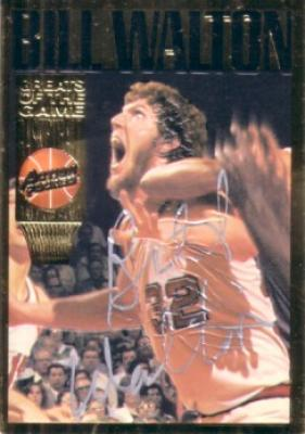 Bill Walton certified autograph Action Packed Hall of Fame card