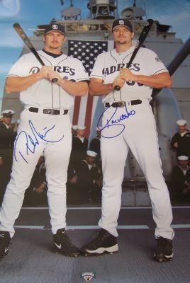 Ryan Klesko &amp; Phil Nevin autographed San Diego Padres 2002 18x24 poster