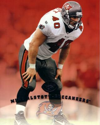 Mike Alstott Buccaneers 1997 Leaf 8x10 photo card