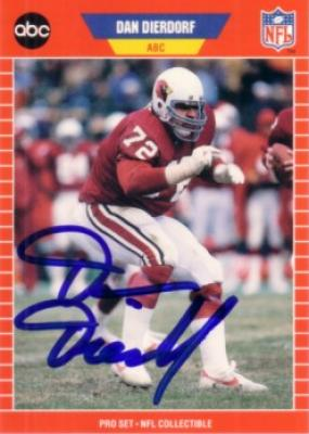 Dan Dierdorf autographed St. Louis Cardinals 1989 Pro Set Announcers card