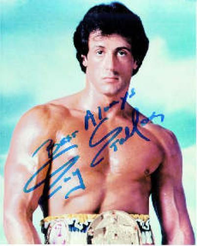 Sylvester Stallone Autograph. Sylvester Gardenzio Stallone was born on July