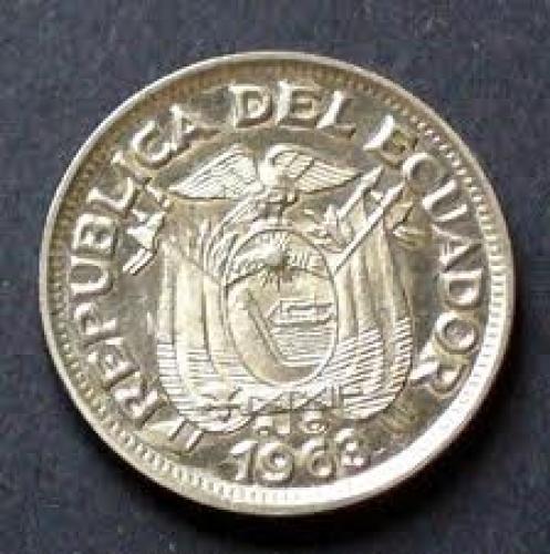 Coins; Ecuador 50 centavos Year:1963