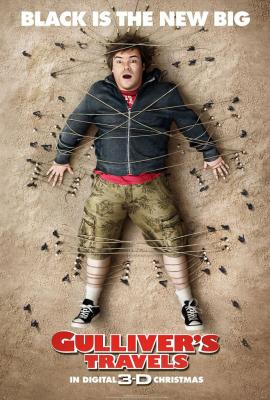 Gulliver's Travels 2010 movie poster (Jack Black)