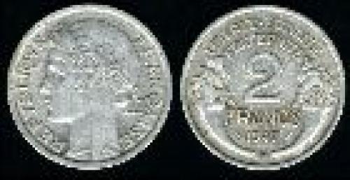 2 francs; Year: 1941-1959; (km 886a.1); aluminum