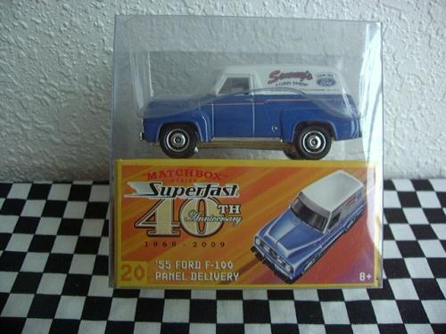 matchbox superfast 40 th anniversary 55 ford f-100 panel delivery