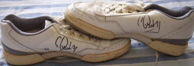 Gabriela Sabatini autographed 1990 Sergio Tacchini match worn tennis shoes