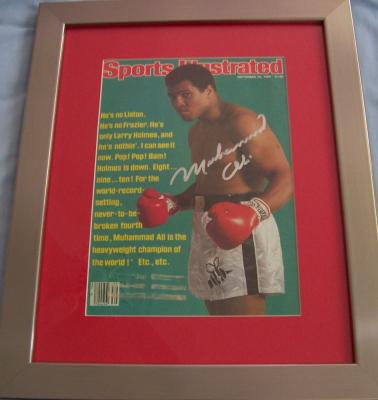 Muhammad Ali autographed 1980 Sports Illustrated cover matted &amp; framed