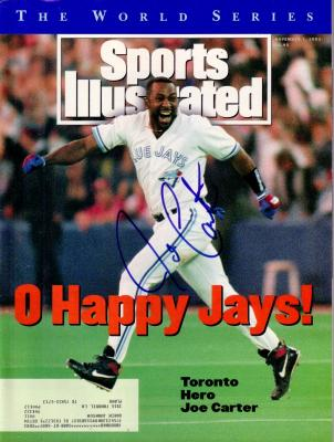 Joe Carter autographed Toronto Blue Jays 1993 World Series Sports Illustrated