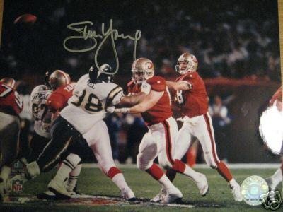 Steve Young autographed San Francisco 49ers 8x10 Super Bowl 29 photo