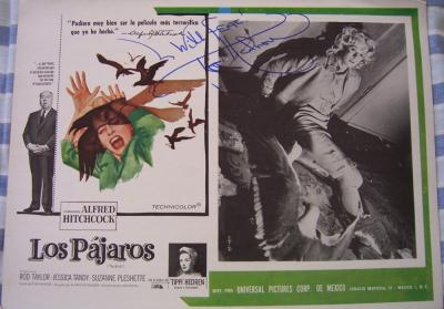 Tippi Hedren autographed The Birds original 12x16 lobby card (Spanish)