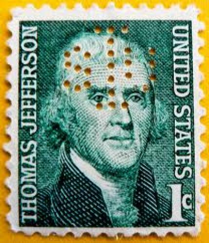 Stamps US; great stamp USA 1c United States Thomas Jefferson 