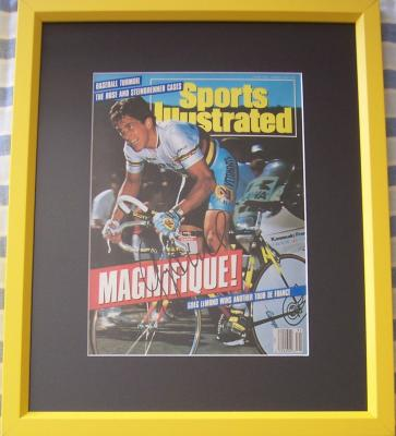 Greg LeMond autographed 1990 Tour de France Sports Illustrated cover matted &amp; framed