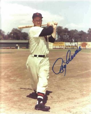 Roy Sievers autographed 8x10 Washington Senators photo
