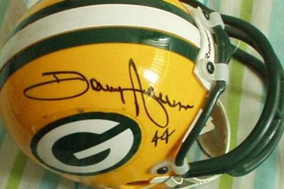 Donny Anderson & John Brockington autographed Green Bay Packers mini helmet