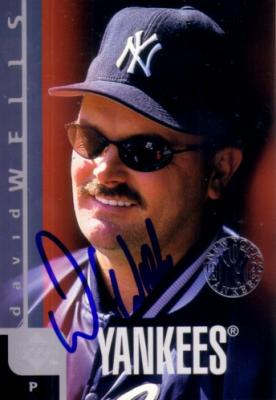 David Wells autographed New York Yankees 1998 Upper Deck jumbo card