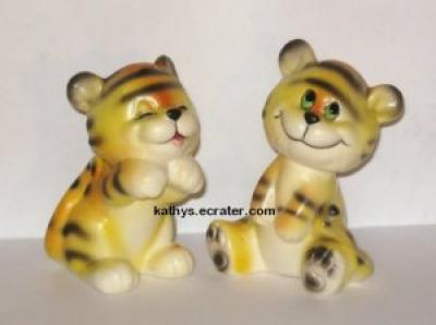 Josef Originals 2 Lot Playful Tigers Animal Figurine