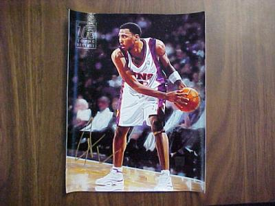 Shawn Marion certified autograph Phoenix Suns Topps 8x10 canvas artwork