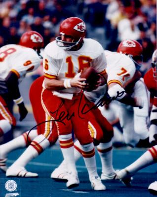 Len Dawson autographed Kansas City Chiefs 8x10 photo