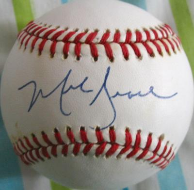 Mark Grace autographed NL baseball