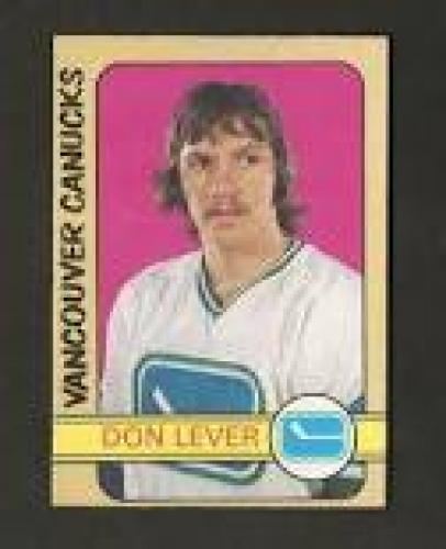 Hockey Card; Rookie; Don Lever; Vancouver Canucks
