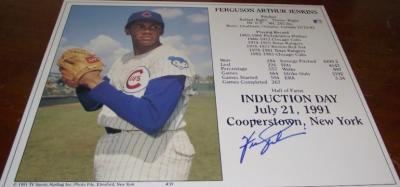 Fergie Jenkins autographed Chicago Cubs HOF Induction Day 8x10 photo card