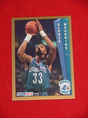 Alonzo Mourning Hornets 1992-93 Fleer Rookie Card #311