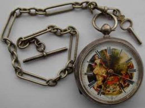 Antique Chain Pocket Watch