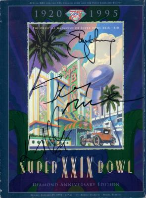 Jerry Rice Steve Young Ken Norton Jr. (49ers) autographed Super Bowl 29 program