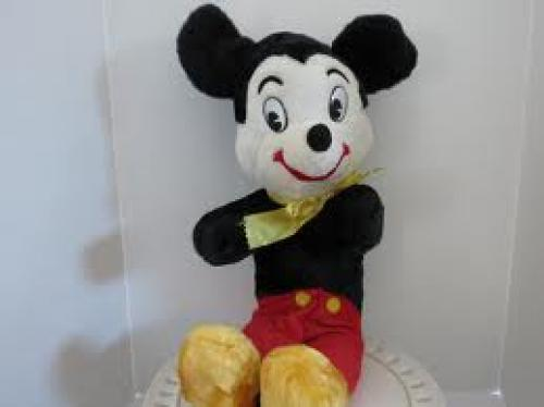 Toys;  Mickey Mouse Stuffed Toy, 1970. From VintageCocobytheLake