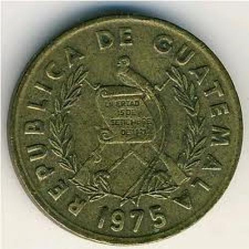 Coins; Guatemala, 1 centavo, 19741979
