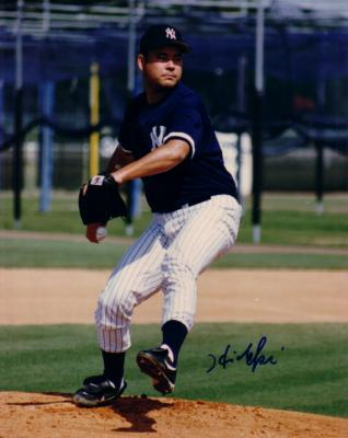 Hideki Irabu autographed New York Yankees 8x10 photo