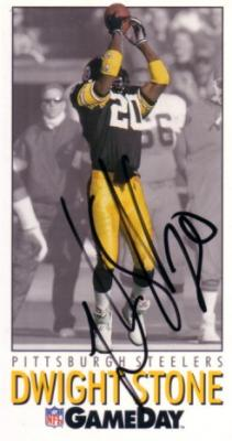 Dwight Stone autographed Pittsburgh Steelers 1992 GameDay card
