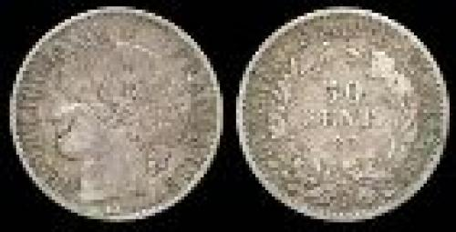 50 centimes; Year: 1849-1851; (km 769)