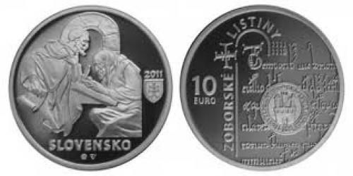 Coins; Slovakia 10 Euro CC 2011 Documents of Zobor