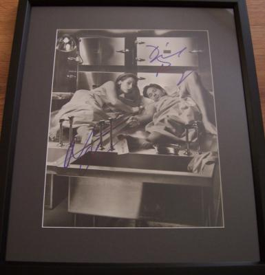 Gillian Anderson & David Duchovny autographed X-Files photo matted & framed